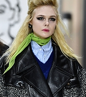 elle fanning, miu miu, paris fashion week, 2018, runway