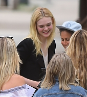 elle fanning, photoshoot, may 06 2018, candids