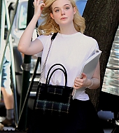 elle fanning, jude law, woody allen, new york, set, candids, september 28 2017