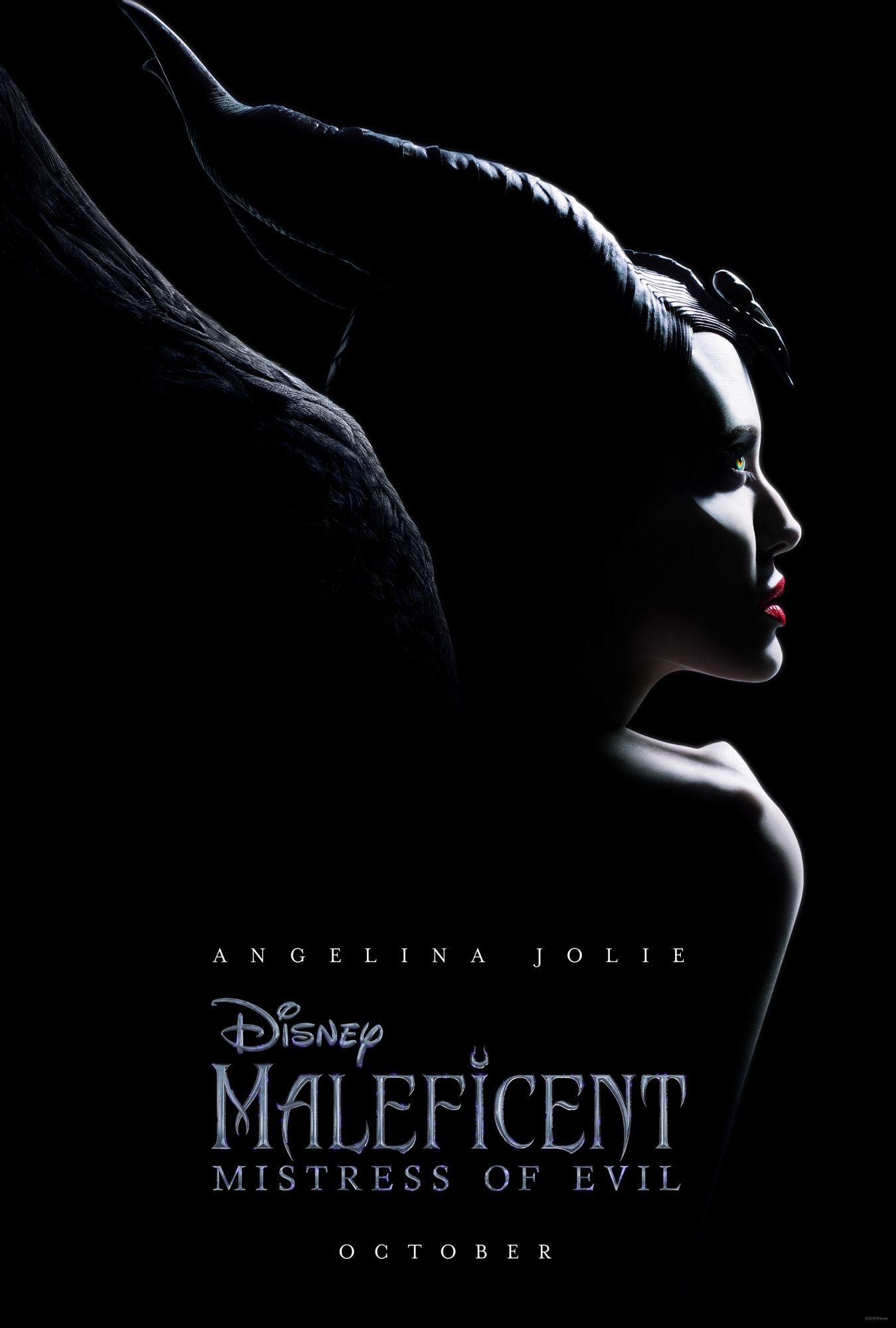 angelina jolie, elle fanning, maleficent 2, poster