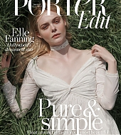 elle fanning, porter, scan, photoshoot